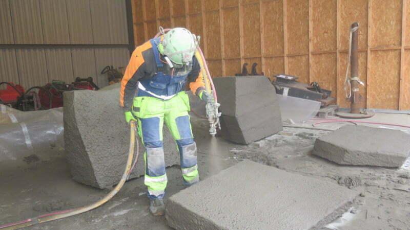 Konststen - betong ser ut som sten - BESAB